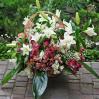 """Большая корзина цветов с лилиями и альстромериями """"Лилии"""""""