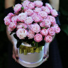 11 peony spray roses in a hat box