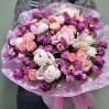 Большой сборный букет с пионами и орхидеями