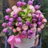 """Капелюшна коробка з квітами """"Для тебе"""" з доставкою"""