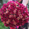 Bouquet of 101 multi-colored rose low rise