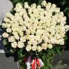 101 кремовая высокая роза купить с доставкой