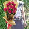 Букет 11 голландских красных высоких роз