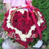151 s rose basket heart