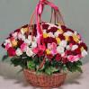 151 роза (микс) в корзине купить с доставкой