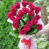 Букет 21 красная голландская роза