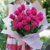 21 малиновая эквадорская роза с доставкой в Киеве