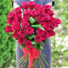 31 red roses from Ecuador with shipping to Kiev cheap