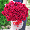 51 red rose Dutch inexpensively with delivery in Kiev
