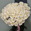 Bouquet of 51 white meter Rosa (Ecuador) with delivery in Kiev