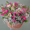 Корзина цветов Розовая дымка купить с доставкой