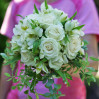 The bride's Bouquet with white roses and alstromerias to order in Kyiv