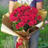 Букет красных роз 27 штук