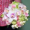 """Букет с орхидеями и пионовидными розами """"Моей милой"""""""