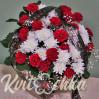 Траурная корзина с гвоздиками и хризантемами №19