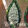 Большой траурный венок из живых цветов №86, высота 200 см купить с доставкой