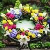 Ритуальный венок с сезонными цветами купить в киеве