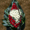 Ритуальный венок в форме сердца купить с доставкой в киеве