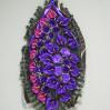 Траурный венок из искусственных цветов № Л19, высота 170 см