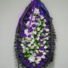 """Траурный венок из искусственных цветов """"Л12"""" купить с доставкой, высота 170 см"""