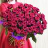 Букет 51 красная роза 80 см