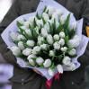 Белые тюльпаны 41 шт купить с доставкой