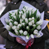 Bouquet of white tulips cheaply with delivery in Kiev
