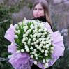 101 белый тюльпан на заказ в Киеве и области
