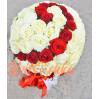 Букет из 201 розы в форме шара