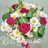 """Бюджетный букет цветов с розами и ромашками """"Благодарю"""""""