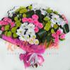 Большой букет с хризантемами и розами Неожиданный сюрприз