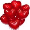 Шары с гелием в форме сердца разноцветные