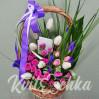 Весенняя цветочная корзина с доставкой в Киевской области