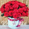 31 red rose in a hat box