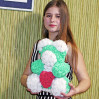 Bear rose 3d green 40 cm with delivery to Kiev