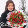 55 ярких тюльпанов купить с доставкой в Киеве
