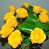 Небольшой букет 11 желтых роз