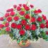 Корзина цветов - букет бизнес класса №2