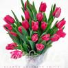 Букет сиреневых тюльпанов купить в Киеве