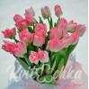 Букет розовых тюльпанов 21 шт купить с доставкой
