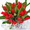Букет из 17-ти красных тюльпанов