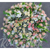 """Большая корзина цветов """"Яните"""" пастельных тонов"""
