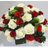 """Basket of roses """"Contrast (31 roses)"""" with delivery"""