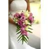 Букет свадебный каскадом с орхидеями № 11