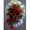 Букет невесты каскадом из роз № 3