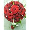 Букет невесты из красных роз № 4