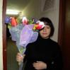 Букет с ирисами и тюльпанами  купить с доставкой
