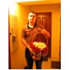 Розы в корзине в форме сердца