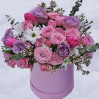"""Bouquet in a hatbox """"Style"""" to order delivery"""