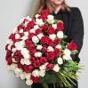 Большой букет 101 розы заказать в аренду на 1 час в Киеве недорого